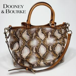 Dooney & Bourke Snake Barlow Medium Leather Bag